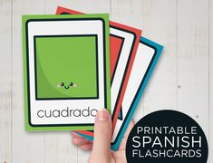 Learn Spanish colour with this fun flashcards