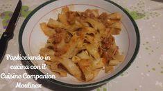 Pasticciando in cucina con il Cuisine Companion Moulinex: Pappardelle ai funghi con ragù di salsiccia - cuco... Cabbage, Pasta, Meat, Chicken, Vegetables, Food, Essen, Cabbages, Vegetable Recipes