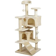 Yaheetech 52″ Cat Tree Tower Condo Furniture Scratch Post Kitty Pet House Play Beige – Cat Supplies