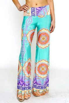 Fold Over Wide Leg Hippie Palazzo Pants by monogramxoxo on Etsy, $35.00