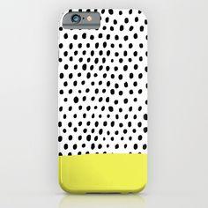 Polka dot rain dip iPhone & iPod Case