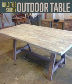 Build This Diy Multifunctional Outdoor Table