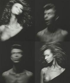 David Bowie and Iman by Victor Skrebneski, December 1991