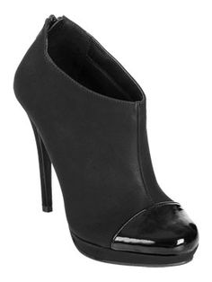 ready for fall, Patent Cap Toe Bootie from ArdenB.com