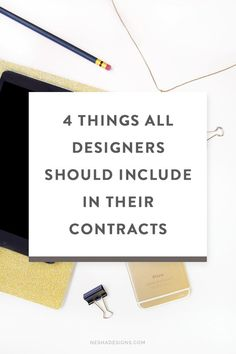 4 things all designers should include in their contracts — Nesha Woolery