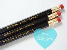 Feministische Bleistift-Set mit 5: Feminismus ist für