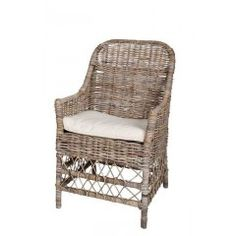 - Length: 28 - Depth: 28 - Height: 37 - Woven Rattan arm chair - Please allow 2-3 weeks