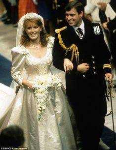 Sarah Ferguson's dress to marry the Duke Of York in 1986 was classically frumpy, in the fa...