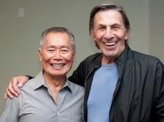 Sulu and Spock
