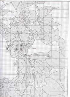 Cross stitch - fairies: Traditional flower fairy sampler - Cicely Mary Barker (chart - part B3)