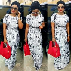 #Actress Mercy Aigbe rocks a dress made from newspapers (Pphotos) #vibes247