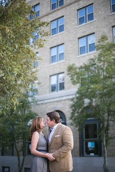 Before you celebrate your big day, an engagement photo session is a must. Downtown is the perfect place to capture a special moment.   Photo courtesy of Wedding Belles Photography http://www.weddingbellesphoto.com/