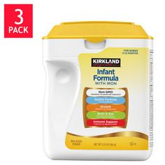 Kirkland Signature™ Non-GMO Infant Formula with Iron helps support the development of you baby.