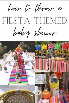 How to plan a taco / Mexican themed baby shower with decorations, food, drinks, games, activities, prizes, and music.