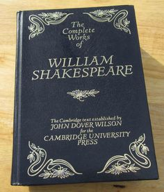 Wouldn't this beautiful copy of Shakespeare's works look beautiful on your bookshelf?  $17 from MyBooklandia on Etsy.  #shakespeare, #octopusbooks, #mybooklandia