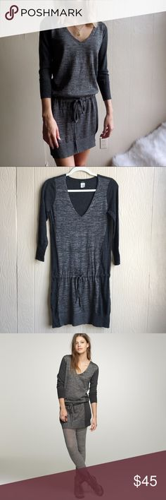 """J. Crew """"Drea"""" Drawstring Dress From J.Crew.com: """"just add leggings and voilà!—instant elegance. Less is more, as seen in this simple yet chic all- season dress that we consider a style cure-all."""" Very cute and flattering. 75% merino wool, 10% polyester, 8% nylon, 7% alpaca. No pilling, flaws, or signs of wear. J. Crew nameplate sewn on upside down but this is the only imperfection. J. Crew Dresses Mini"""