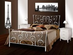 Dekoratives Eisenbett RHEIN-LOIRE. Ihr Online-Shop für Design Betten aus Schmiedeeisen.
