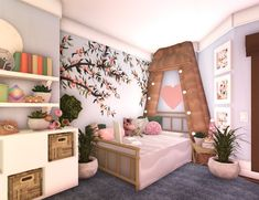 Two Story House Design, Tiny House Layout, Sims House Design, House Layouts, Simple Bedroom Design, Unique House Design, Home Building Design, Home Design Plans, Cute Bedroom Ideas
