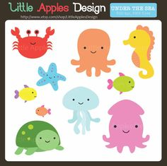 Under The Sea ClipArt / Under The Sea Clip by LittleApplesDesign, $4.60
