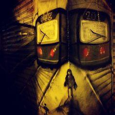 #wallart #street #train #iphone   Flickr - Photo Sharing!