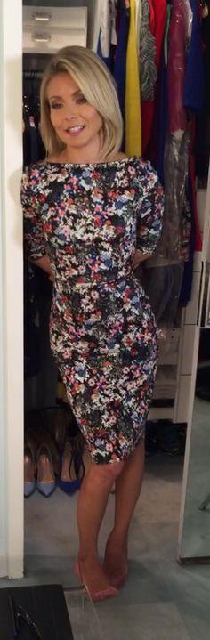 Kelly Ripa in a floral print Erdem dress. Kelly's Fashion Finder.