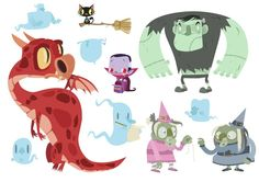Some monsters by Andrea Torrejon.