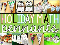 Holiday Math pennants from Scaffolded Math and Science