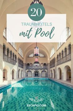Ein Wellnesshotel mit Pool ist der perfekte Ort für eine kurze Auszeit. #wellnesshotel #hotels #reisen #urlaub #pool Bio Sauna, Indoor Swimming Pools, Hotels, Mansions, House Styles, Home Decor, Short Breaks, Steam Bath, Relax Room