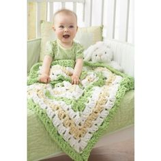 Mary Maxim - Free From the Middle Baby Blanket Crochet Pattern - Free Patterns - Patterns & Books