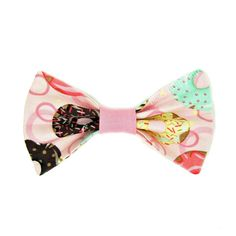 Sweet Pastel Donuts Bow Hair Clip Barrette by blacktulipshop, $6.00