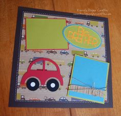 Boy scrapbook pages using Silhouette