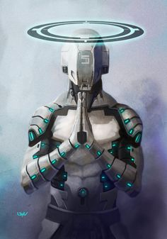 -- Angelus 5 -- by *wyv1 # cyberpunk, robot girl, cyborg, futuristic, android, sci-fi, science fiction, cyber girl, digital art