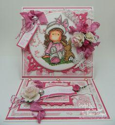 Magnolias Tilda With Bunny Love  pretty pink tilda