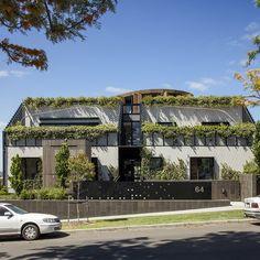 Melbourne Green Facade | Tensile Design & Construct Green Facade, Melbourne, Construction, Exterior, Mansions, House Styles, Building, Design, Villas
