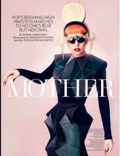 Lady Gaga Cover Story Fashion Magazine August 2011 Canada