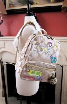 NWT COACH Signature Applique Backpack Bookbag Bag 17939 5e9065ef9ce5b