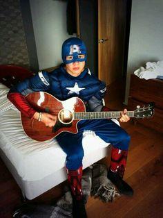 Calum as Captain America
