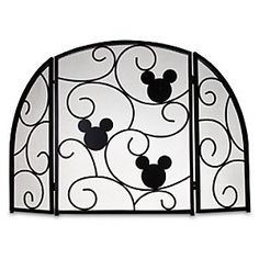 Disney Mickey Mouse Fireplace Screen | Disney StoreMickey Mouse Fireplace Screen - Mickey will warm up any room! Our Mickey Mouse Fireplace Screen is crafted of heavyweight metal with a graceful swirling design to keep the home fires burning safely. Available exclusively at DisneyStore.com. Part of our Hearth and Home Collection.