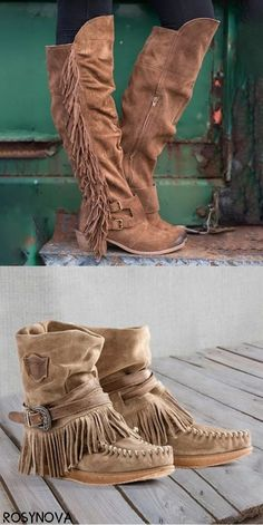 Shop Now> Tassel Boots on Big Sale Now! Up to OFF Women fashion for work casual Boot Over The Knee, Over Boots, Boho Fashion, Fashion Shoes, Autumn Fashion, Fashion Design, Cowgirl Boots, Western Boots, Crazy Shoes