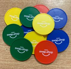 Come Swap and Shop's bespoke printed tokens are ready to be despatched today! Printed tokens are a great way of adding a personalised touch to your events! Contact the team now to receive your quotation! Event Planning Business, Wedding Planning, Swap N Shop, Reward System, Event Management, Event Ideas, Corporate Events, Bespoke, Wedding Inspiration