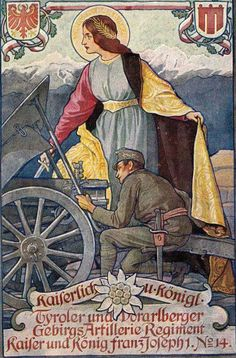 Austro-Hungarian Army Tyrol and Vorarlberger Mountain Artillery Regt. For Kaiser and King Franz-Joseph I.