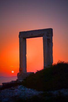 Portara sunset Naxos