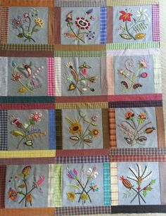 Jacobean Bouquet Quilt Block a Month Join Now!