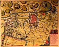 CA_77_R_84 -  Ver C.C. 250 A. - Plan de Turin tel quil a été assiégé en 1706. Amesterdão: Pierre Mortier. 1706. Cota: BNP C.A. 77 R. // Mapa 84 e C.A. 22//83