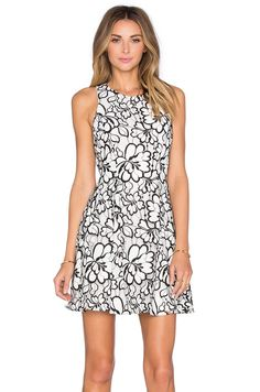 Greylin Bruna Floral Lace Dress in White