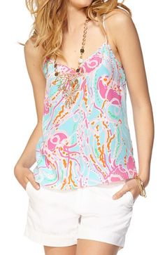 Lilly Pulitzer Dusk Racer Back Tank Top in Jellies Be Jammin