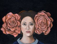 Browse through images in Leah Saulnier The Painting Maniac's Surreal Flower Ladies collection. Surreal flowers and female portraits together sometime with gold leafing involved all painted with oil Canvas Art Prints, Framed Prints, Framed Canvas, Rose Illustration, Modern Pop Art, Thing 1, Realism Art, Medium Art, Fine Art America
