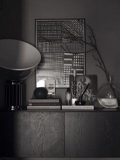 A Scandinavian home in grey tones by Lotta Agaton