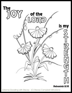 Flowers Coloring Pages with Bible Verses 4 by DesignsbyStaceyLynn Spring Coloring Pages, Flower Coloring Pages, Colouring Pages, Adult Coloring Pages, Coloring Sheets, Kids Coloring, Scripture Crafts, Bible Art, Bible Verses