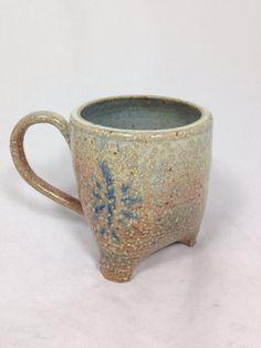 Salt Fired Mug by ecarnellpotter on Etsy, $23.00